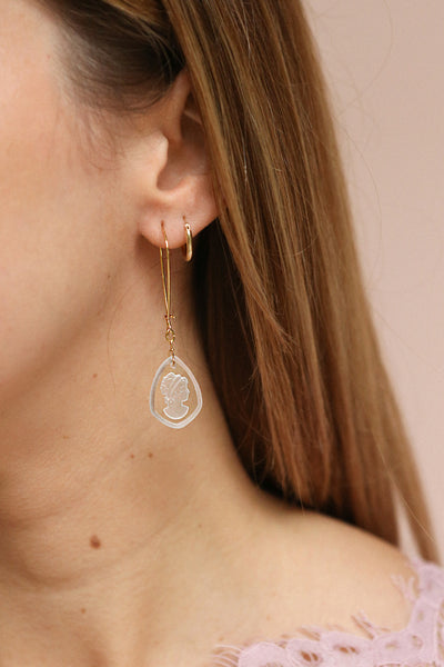 Palmyre Mauve | Pendant Earrings