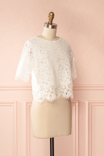 Paora Light | White Lace Top