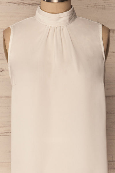Pajara White Sleeveless Silky Top with Bow | La Petite Garçonne 6