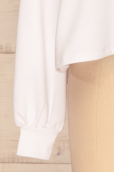Pasklek White Long Sleeve Crop Top | La petite garçonne sleeve