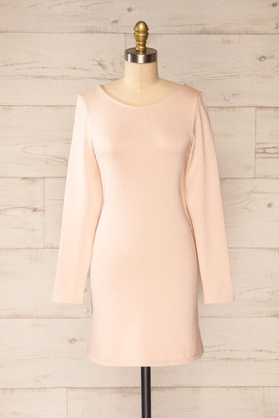 Pasly Blush Long Sleeve Cotton Dress | La petite garçonne front view