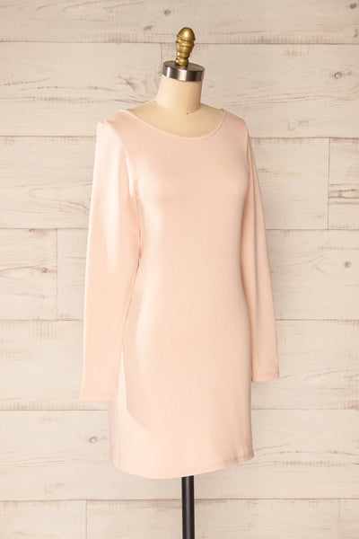 Pasly Blush Long Sleeve Cotton Dress | La petite garçonne side view