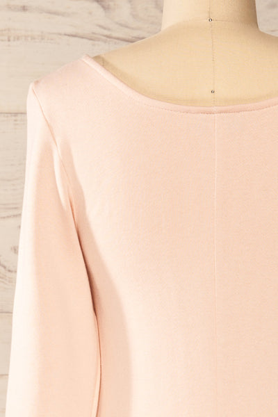 Pasly Blush Long Sleeve Cotton Dress | La petite garçonne back close-up