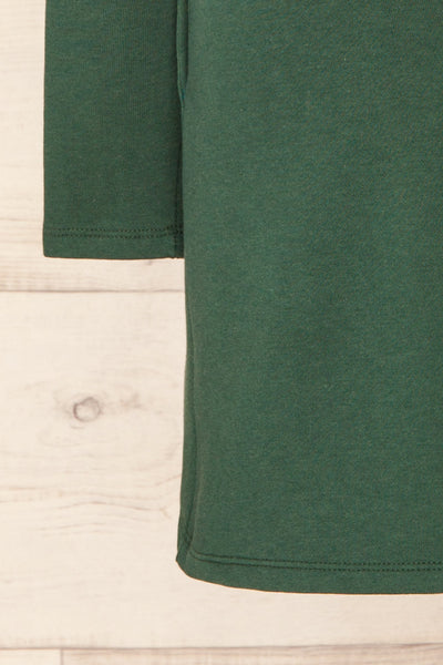 Pasly Green Long Sleeve Cotton Dress | La petite garçonne bottom