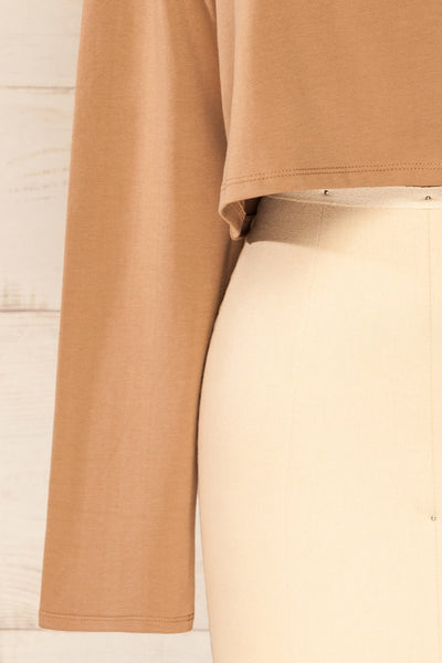 Pato Taupe Long Sleeve Crop Top | La petite garçonne bottom