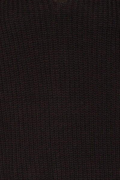 Patras Black V-Neck Knitted Sweater | La petite garçonne fabric