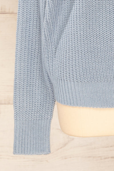 Patras Light Blue V-Neck Knitted Sweater | La petite garçonne bottom