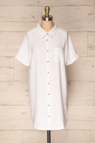 Pellas Snow White Button-Up Tunic Dress | La Petite Garçonne