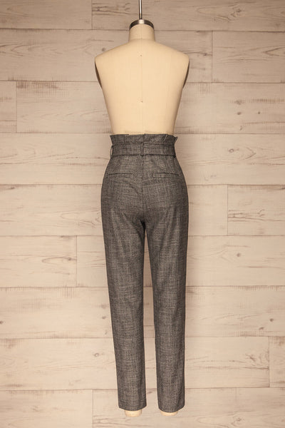Perugia Grey High-Waisted Tailored Pants | La petite garçonne back view