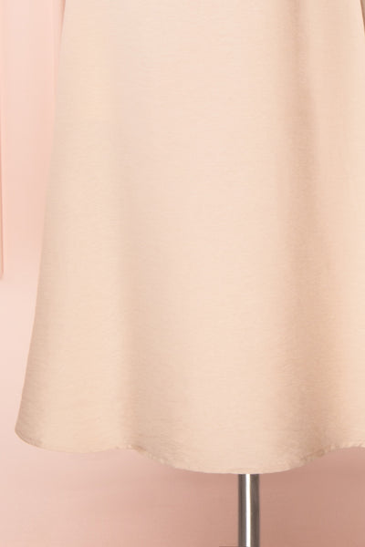 Piastow Sand Beige Short Sleeve Midi Dress | Boutique 1861 bottom