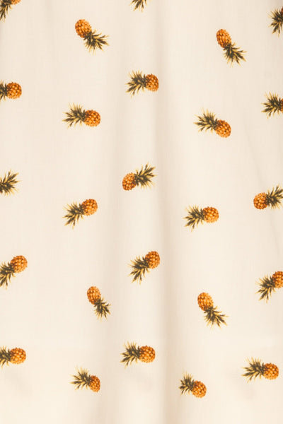 Piechowice White Pineapple Short Dress | La petite garçonne fabric