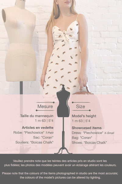 Piechowice White Pineapple Short Dress | La petite garçonne template