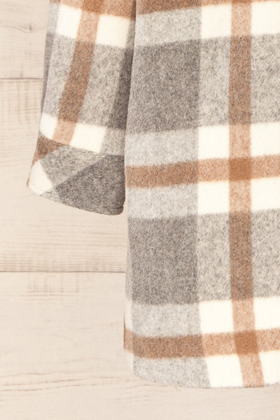 Pietrapaolo Grey Plaid Wool Shirt Jacket | La petite garçonne bottom