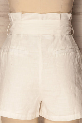 Pilzno White Button-Up HIgh Waisted Shorts | La Petite Garçonne 6