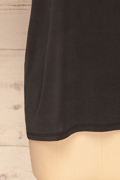 Pinhel Black Basic Loose T-Shirt | La petite garçonne bottom