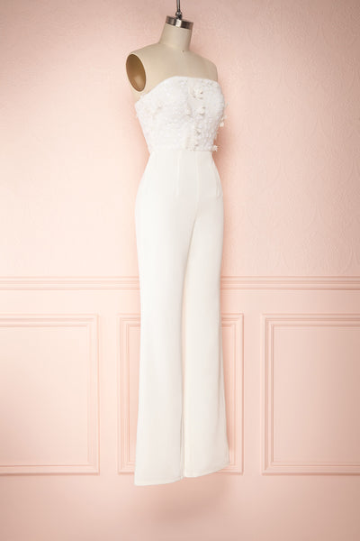 Plaisance Bridal Jumpsuit w/ Removable Tulle Skirt | Boudoir 1861 side view