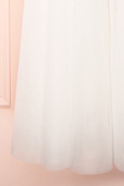 Plaisance Bridal Jumpsuit w/ Removable Tulle Skirt | Boudoir 1861 bottom close-up skirt