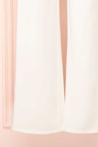 Plaisance Bridal Jumpsuit w/ Removable Tulle Skirt | Boudoir 1861 bottom close-up
