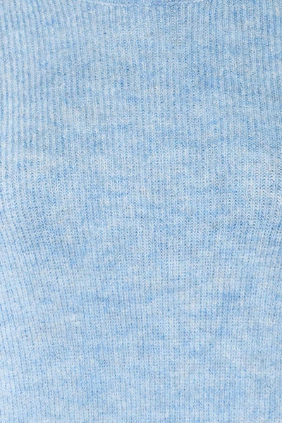 Polikh Blue Puffy Sleeve Knit Top | La petite garçonne fabric