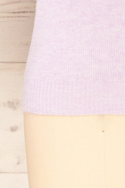 Polikh Lilac Puffy Sleeve Knit Top | La petite garçonne bottom