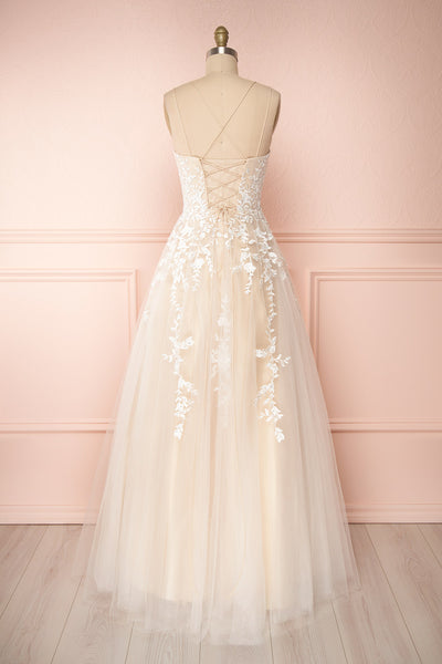 Primrose Beige Embroidered Bridal Dress | Boudoir 1861 back view