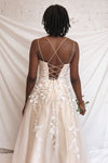 Primrose Beige Embroidered Bridal Dress | Boudoir 1861 model back