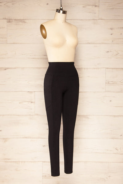Putignano Black High-Waisted Leggings | La petite garçonne side view