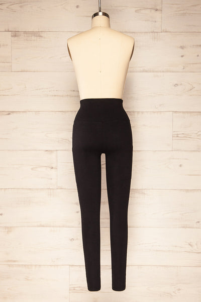 Putignano Black High-Waisted Leggings | La petite garçonne back view