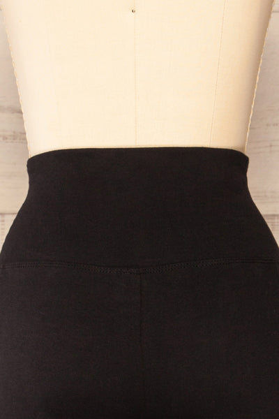 Putignano Black High-Waisted Leggings | La petite garçonne back close-up