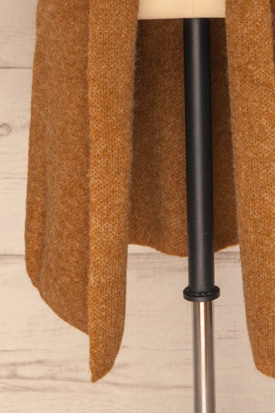 Qormi Brown Long Knitted Cardigan | La petite garçonne bottom