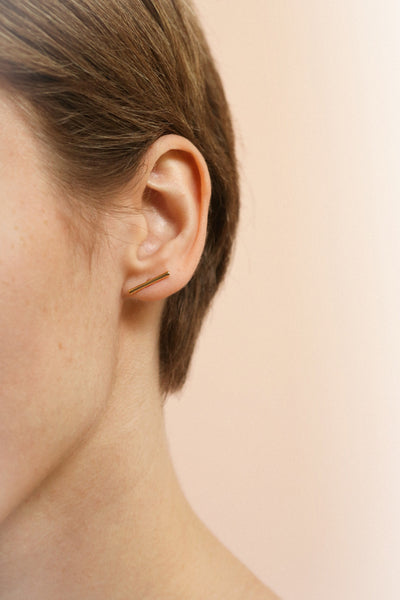 Quare Or | Gold Stud Earrings