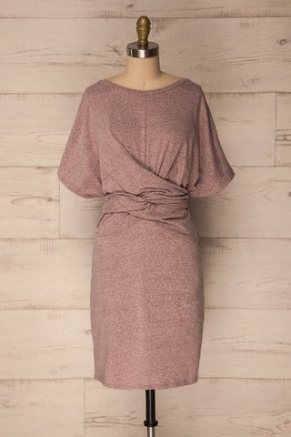 Rabac Rose Lilac Sheath Dress with Knot | La Petite Garçonne