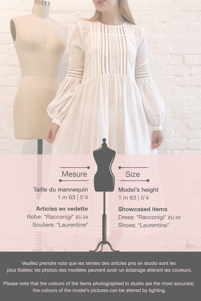 Racconigi White Long Sleeve Bridal Midi Dress | Boudoir 1861 template