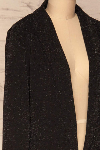 Raciborska Black Sparkly Blazer | La Petite Garçonne side close-up