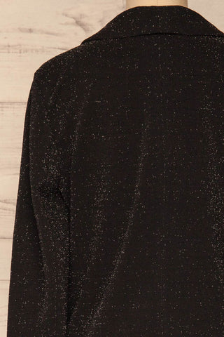 Raciborska Black Sparkly Blazer | La Petite Garçonne back close-up