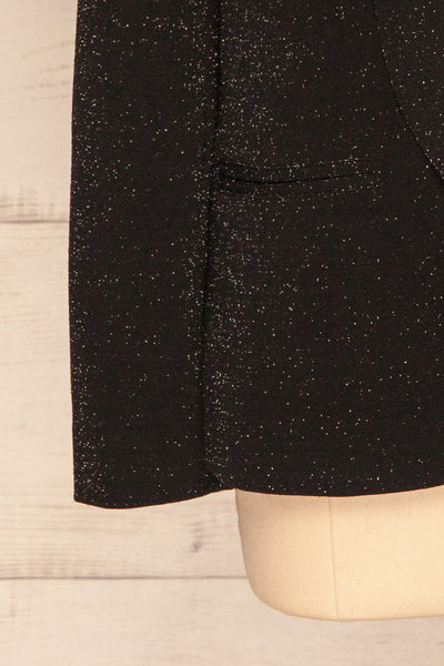 Raciborska Black Sparkly Blazer | La Petite Garçonne bottom close-up