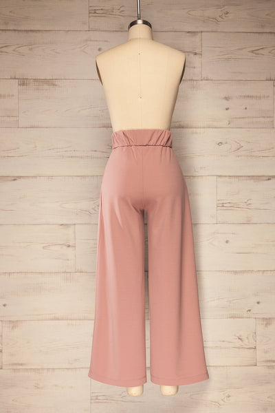 Radzymin Pink Wide Leg High-Waisted Pants | La petite garçonne back view