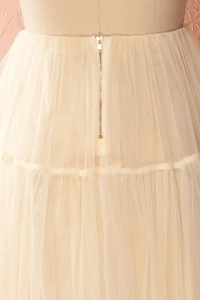 Raney Ivory Tulle Layered Midi Skirt | Boutique 1861 6