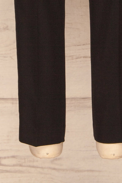 Raphim Black Trousers | Pantalon Noir | La Petite Garçonne bottom close-up
