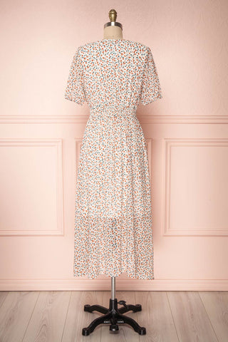 Raunui Cream Floral Button-Up A-Line Dress | BACK VIEW | Boutique 1861