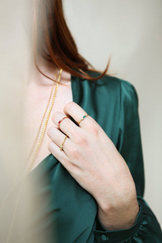 Referre Clear & Golden Minimalist Ring | Boutique 1861 2