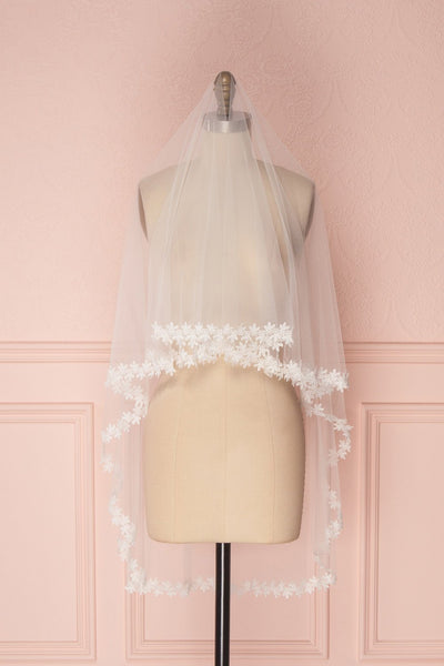 Reine-des-Prés White Light Mesh Wedding Veil | Boudoir 1861