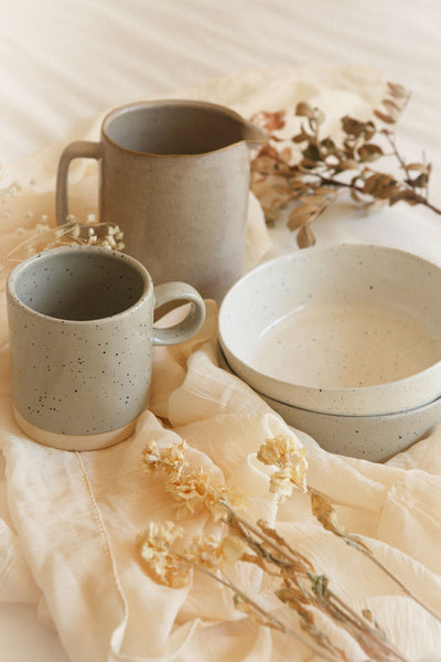 Abaucourt Speckled Grey Ceramic Pitcher