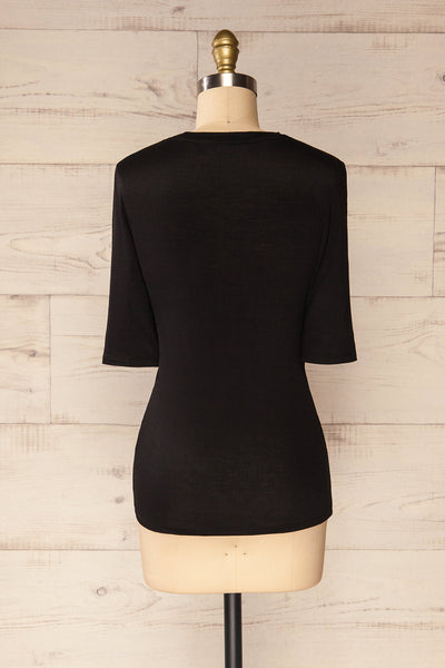 Renaix Black Fitted T-Shirt | La petite garçonne back view