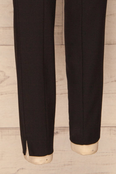Reumont Black Tapered Dress Pants legs | La Petite Garçonne