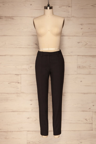 Reumont Black Tapered Dress Pants | La Petite Garçonne front view