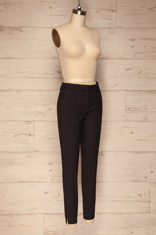 Reumont Black Tapered Dress Pants | La Petite Garçonne side view