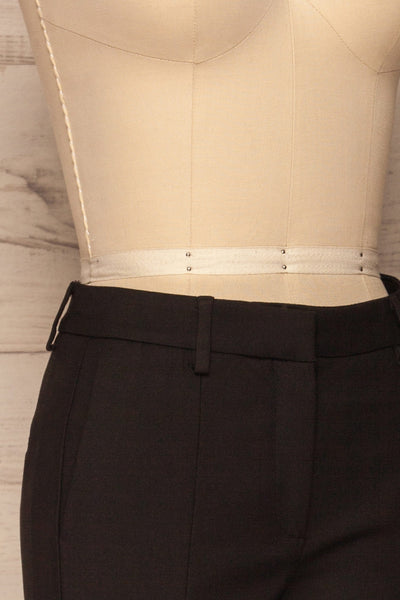 Reumont Black Tapered Dress Pants | La Petite Garçonne side close-up