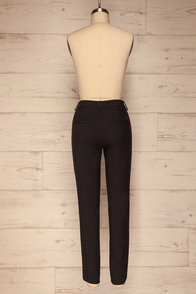 Reumont Black Tapered Dress Pants | La Petite Garçonne back view