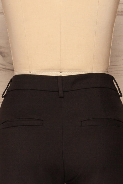 Reumont Black Tapered Dress Pants | La Petite Garçonne back close-up